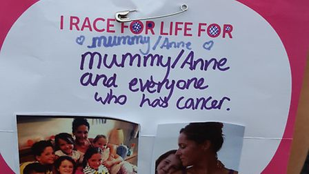 Race For Life - A touching tribute to the late Anne Aurouosseau from her niece Charlotte Yousif