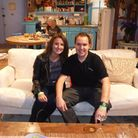 Cat and Chris Lennon in Rachel and Monica's apartment.