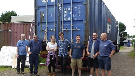Volunteers have worked hard to send a shipping container full of books to Kenya, where it will be co