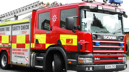 Firefighters were called to four separate rubbish fires next to the A1(M).