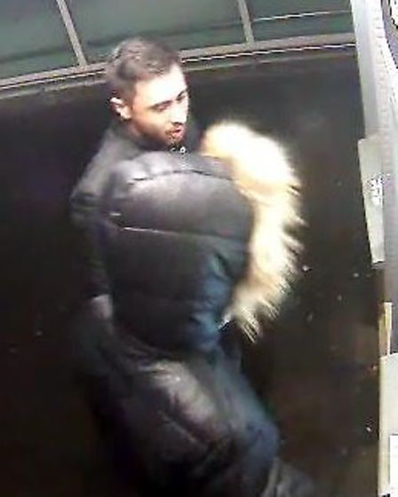 Police have released this CCTV image of men they would like to identify following a distraction burg