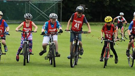 More than 60 cyclists took part in the Go-Ride Session at Fairfield Sports Ground in Biggleswade on