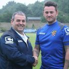 New Stevenage Ladies manager Gary Bailey (right) with the club's David Potter