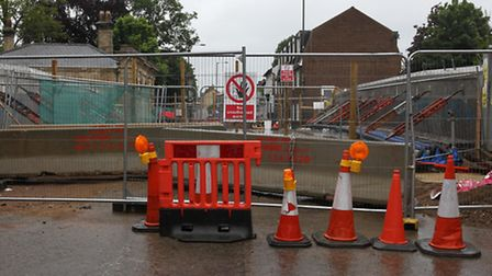 The Stratton Street bridge is due to reopen on Sunday, unless there is 'adverse weather'.