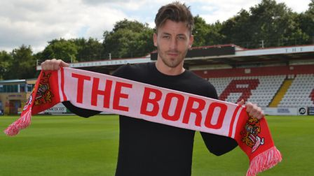Jake Hyde has joined Stevenage following his release from York City. Picture: STEVENAGE FC
