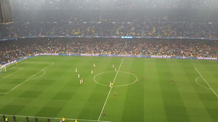 Camp Nou where the team were due to play