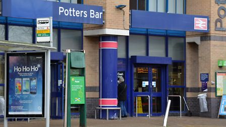 A man has been pronounced dead at the scene after being hit by a train at Potters Bar station.