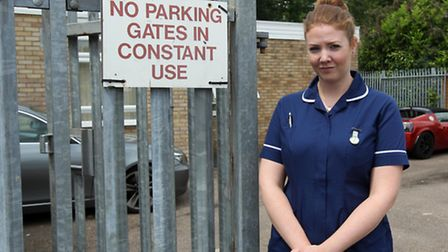 Olivia Ackerman and staff from the St Nicholas Health Centre in Canterbury Way are worried that cars