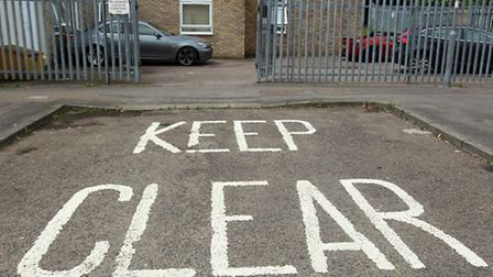 There is a 'keep clear' sign painted directly outside the entrance gate but there have been incident