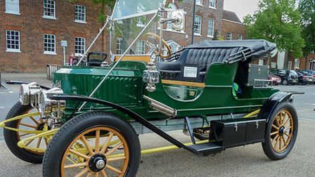 Letchworth Garden City Classic & Vintage Car Club event at Halls Green in North Herts, June 2016. Th
