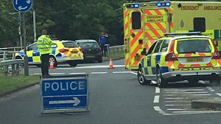 A 21-year-old man was arrested after the collsion at Vardon Road yesterday