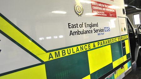 A man has collapsed outside a shop in the centre of Hitchin.