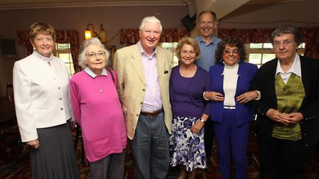Olive Braham, Jane Mitchell, Henry Mitchell, Gill Bonfield, Tony Rutherford, Gwen Williamson and Jea