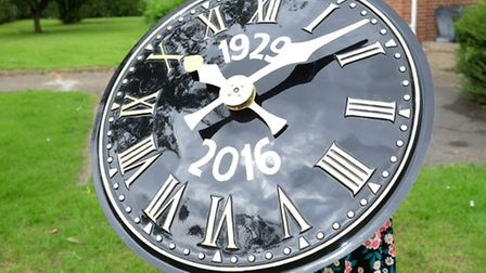 The newly refurbished clock face for Wilshere-Dacre school