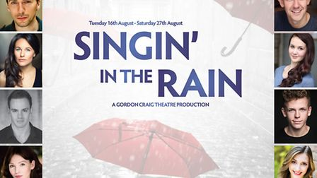 Members of the Singin' in the Rain cast are at the Westgate Centre in Stevenage today.