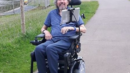 Alan Davey gradually lost his mobility, speech and ability to swallow or breathe properly.