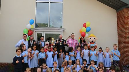 Stevenage mayor John Lloyd attended the opening alongside pupils, staff and governors at Woolenwick