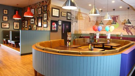 The American dining area at Hollywood Bowl in Stevenage.