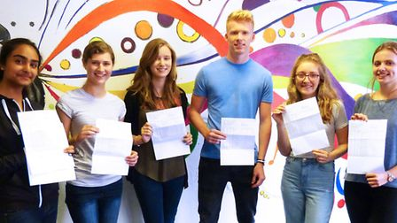 Serena Kumar, Amy Willetts, Rebecca Hardy, Cameron Ward, Holly Bullen and Rebecca Conder with their