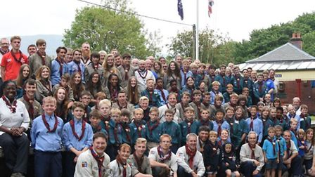 Can you spot Hithcin scout Ben Street - he's the one with his mouth open!