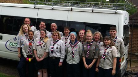 The scouts get set to leave Letchworth for Swaziland.