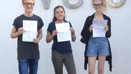 Barclay's Anthony Reynolds achieved 10 GCSEs with two As, Francesca Webster achieved 10 GCSEs includ