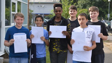 Forest Hall pupils celebrate the school's best ever GCSE results