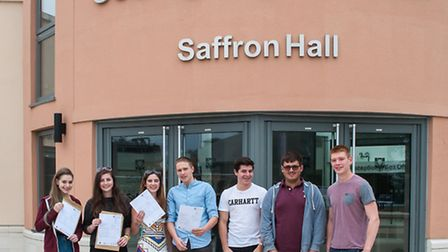 County High students on A-level results day