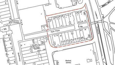An overview of the planned site in Park Place, Stevenage.