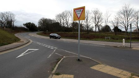 There was a two-car crash at the notorious Graveley Road junction on the outskirts of Stevenage this