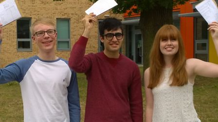 Nobel School students Ben Gray, Bobby Banks and Ellie Ward are all going to the University of Oxford