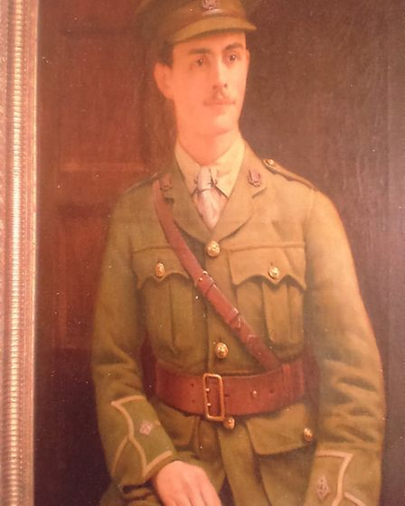 The portrait of of Herbert Keell that his relatives have restored.