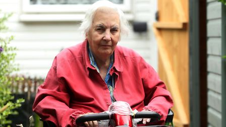 Phyllis Rolfe, 76, is calling for action over the pavements on Letchworth's Jackmans estate.