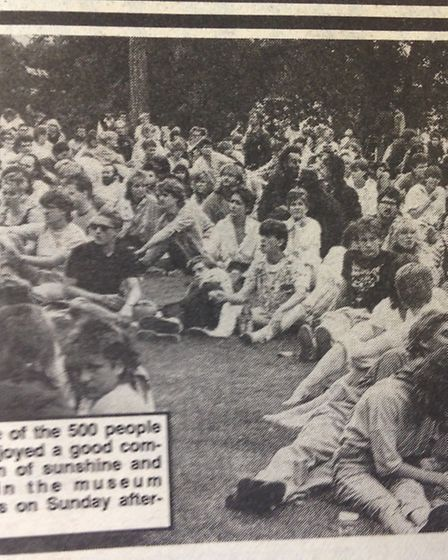 Around 500 people attended a rock concert in the grounds of Saffron Walden museum in August 1986