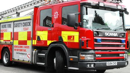 Fire crews from Hithcin, Stevenage and Baldock tackled the blaze