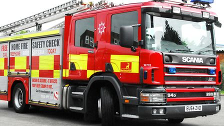 Two fire engines were called after fire broke out at a Stevenage property
