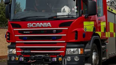 An unoccupied childs buggy was set alight in Hitchin yesterday evening, with firefighters called to