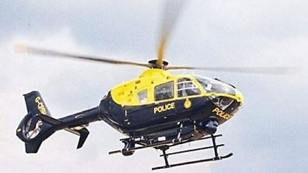 A police helicopter was deployed to search for the man