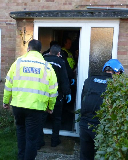 A drugs raid carried out by Herts Police