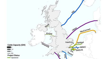 How the UK relies on electricity interconnectors with our EU partners. Photograph: Crown Estate.