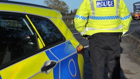 A motorcyclist is in a critical condition with serious leg injuries after a crash with a car on the