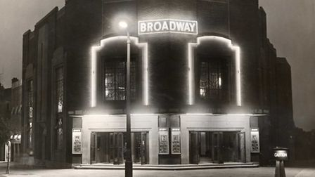 The Broadway Cinema's bright and brash neon lights in 1936