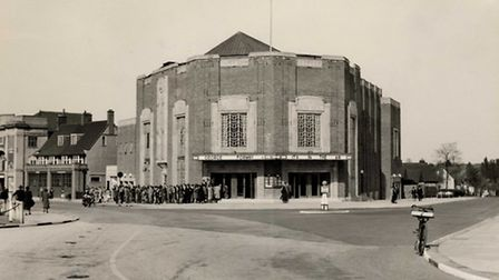 Queuing round the block to see George Formby in 'It's In The Air' in 1938