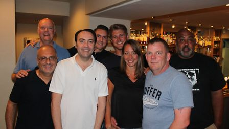 Gennaro Capasso's cast and crew. Back left to right: executive producer and actor Michael Stoddard,