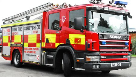 Firefighters were on the scene within six minutes of being called by a woman living at a house in By