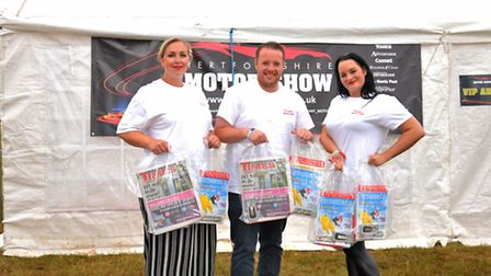 Comet and Crow team Orla Collins, Kelly Pauling and Adam Pattison manning the Archant marquee at the