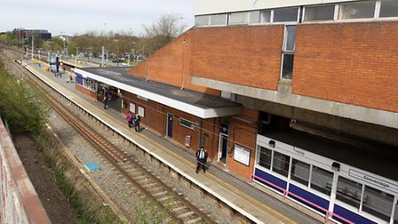 Train lines were closed for an hour last night after concern for a person's welfare