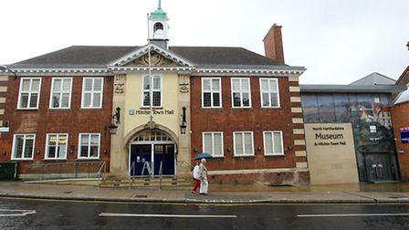 Hitchin Town Hall and Museum.