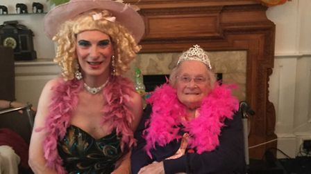 A Danny La Rue tribute act performed at Highfields Care Home