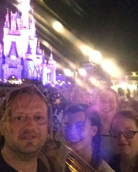 Tim Atkinson with members of the Saffron Walden Carers Group at Disneyland